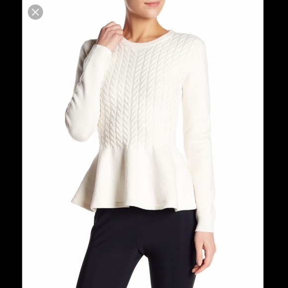 0959e614d1bb4d Ted Baker cable knit peplum sweater. M_5c77f7e97386bc6c96013261
